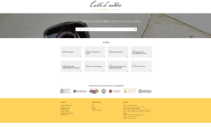 Homepage del sito Carte d'autore on line